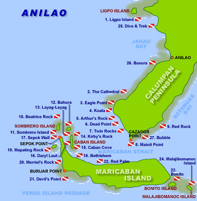 Map of Anilao, Batangas, Philippines
