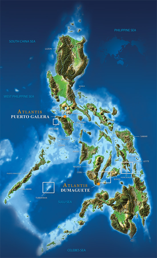 Map of the Philippines, courtesy of Atlantis Resorts