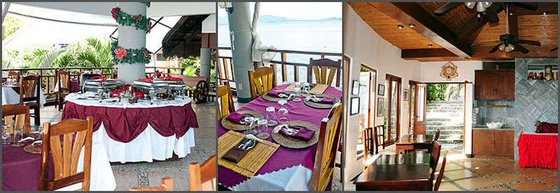Dining Area and Media Room at Crystal Blue Resort, Anilao, Philippines