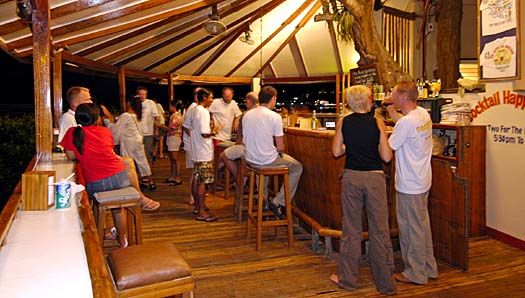 The Point Bar at El Galleon Dive Resort, Puerto Galera, Philippines - photo by Lynn Funkhouser