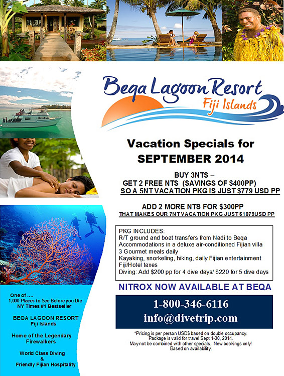 Beqa Lagoon Resort special for 2014