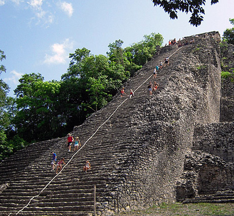 Nohoch Mul Pyramid at Coba, Q. Roo, Mexico - copyright Ken Knezick, Island Dreams