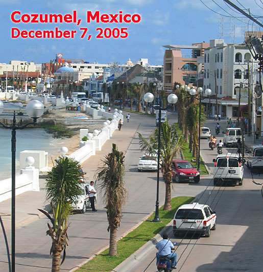 Cozumel as of December 7, 2005 - Photo by Bill Horn of Aqua Safari