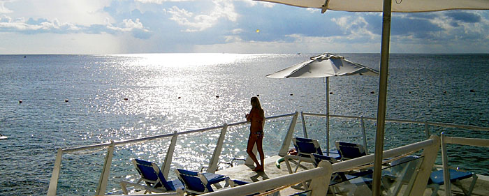 The luxury all-inclusive Cozumel Palace is superbly located at the ocean's edge - Image copyright Ken Knezick, Island Dreams