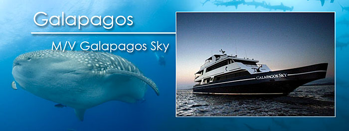 M/V Galapagos Sky live-aboard in the Galapagos Islands