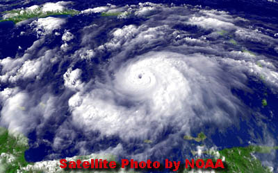 Hurricane Emily July 2005 - Photo courtesy of NOAA