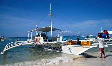 Scuba World banca at Alona Beach, Bohol