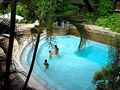 Gardens and Swimming Pool at El Galleon Resort, Puerto Galera