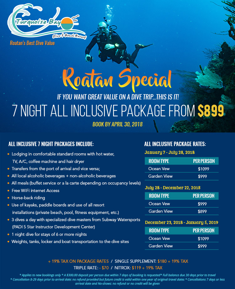 Turquoise Bay Resort special pricing